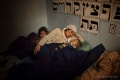 West Bank, 2013. Shira puts her children to bed.